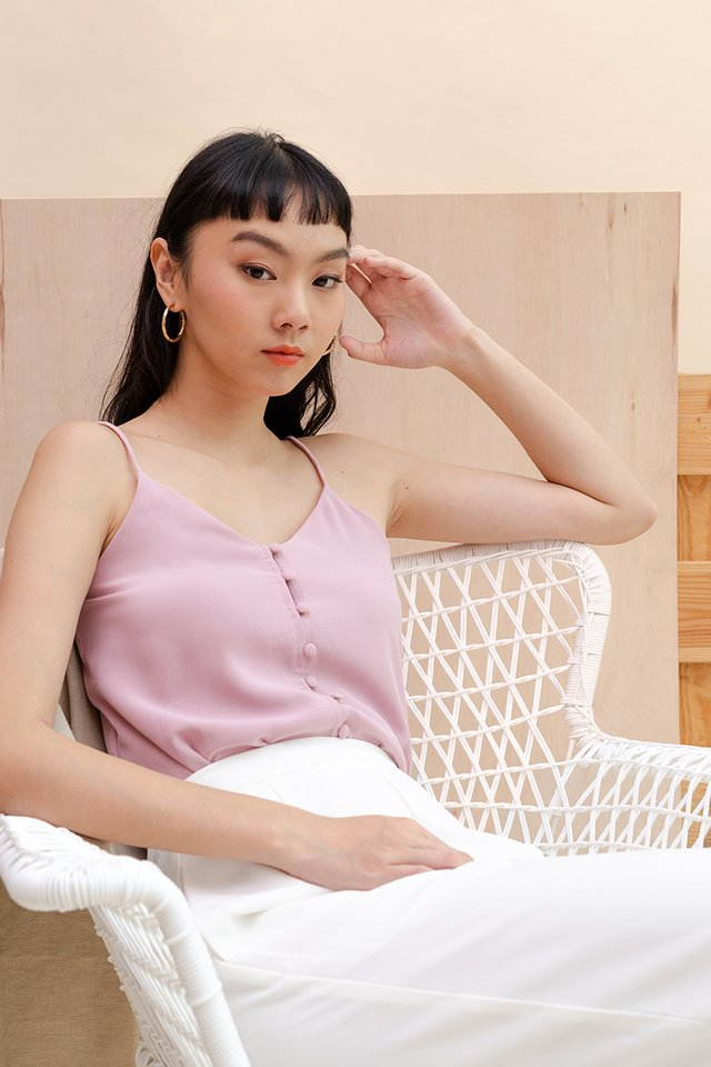 BEV BUTTON CAMISOLE LILAC