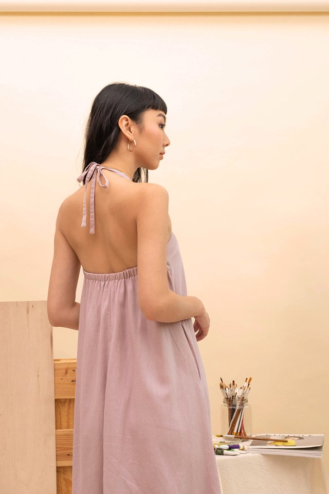 SANDRA HALTER DRESS LILAC