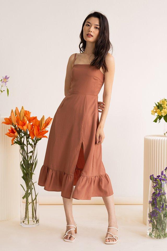 KATE SIDE SLIT DRESS ROSE