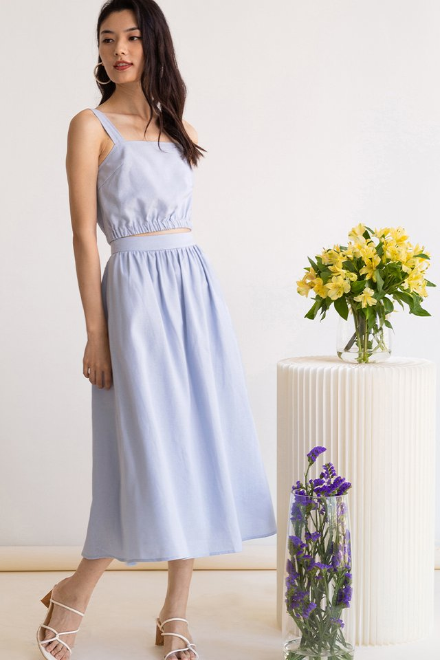 CLOVER LINEN SKIRT CLOUD