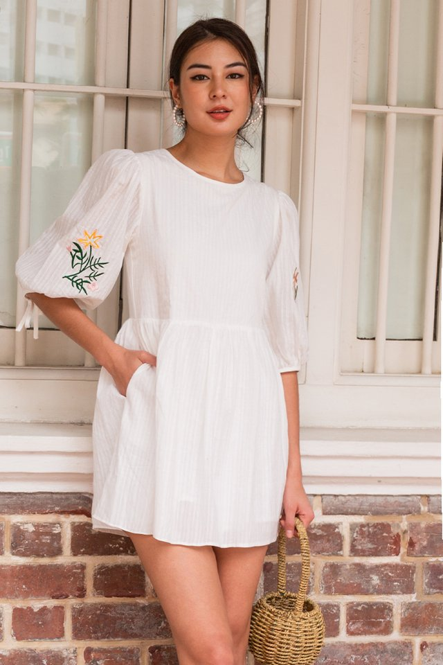 WILLA EMBROIDERY ROMPER WHITE
