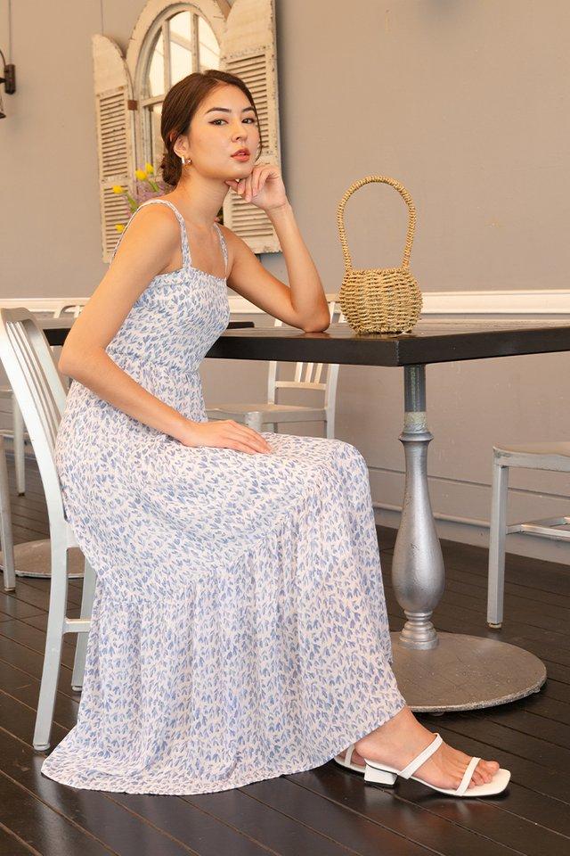 KRYSTAL FLORAL MAXI DRESS BLUE