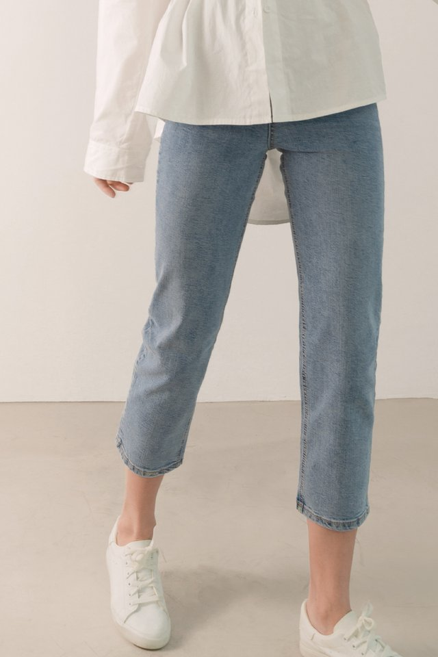 MAX HIGH RISE JEANS MID WASH